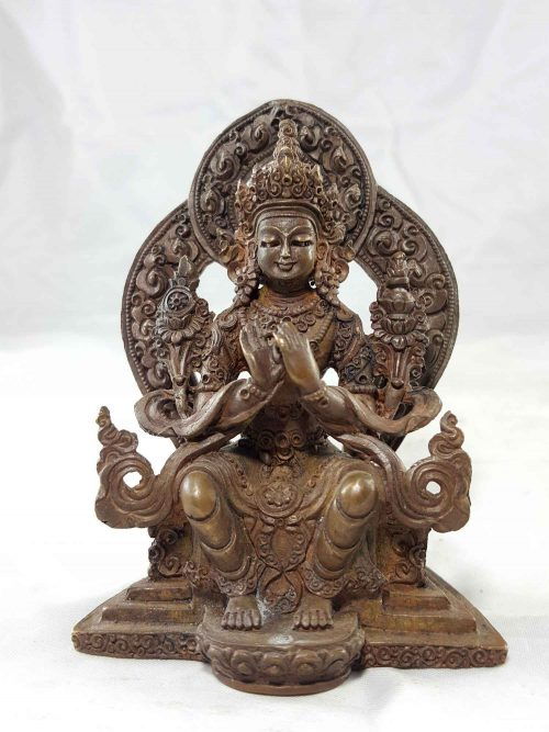 Maitreya Buddha Copper Miniature Statue