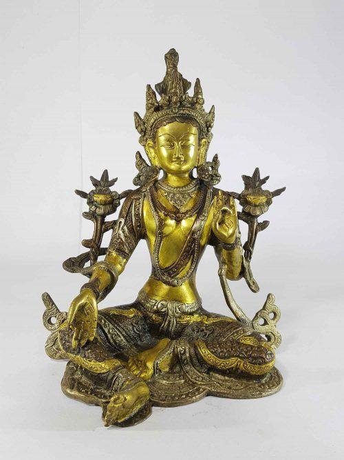 Tibetan Green Ara Statue Sand Casting