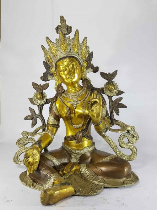 Arya Green Tara Statue Sand Casting