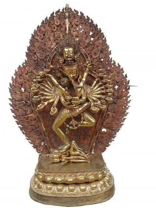 Hevajra Statue waiting For Paitna Finishign