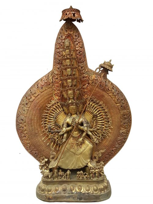 Maha Patingar / Sitatapatra/ Umbrella Buddha/ Dugar Statue Waiting For Patina Finishign