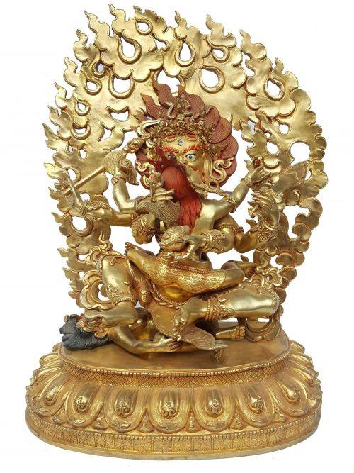 Stilling Six Arms Mahakal Shakti Statue
