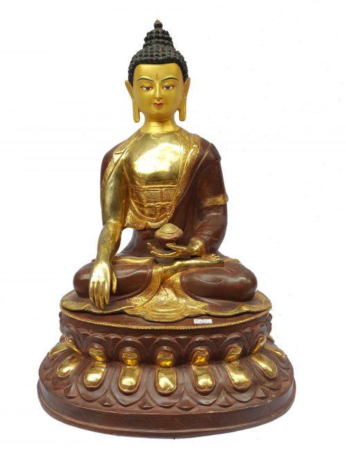 Shakyamuni Buddha Statue Painted Face