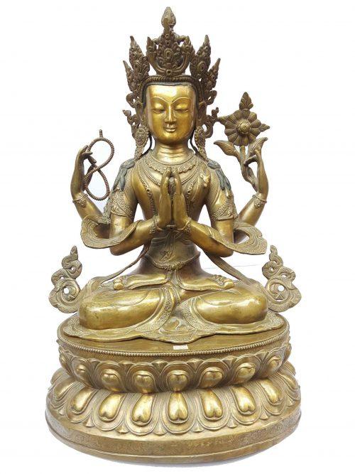 Chenrezig Statue Sweat finishing Double Lotus Base
