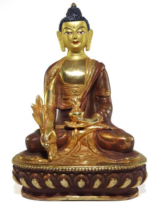 Statue of Medicine Buddha Painted Face