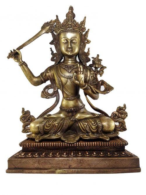 Manjushri Statue Bronze finishing