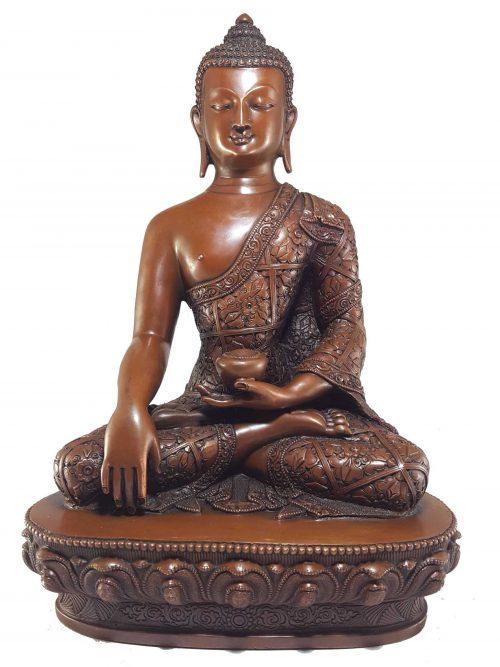 Shakyamuni Buddha Statue with Deep Carving