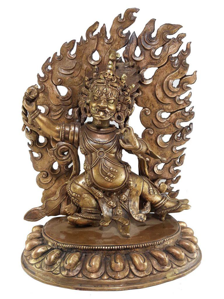 Statue of Vajrapani Bronze finishing