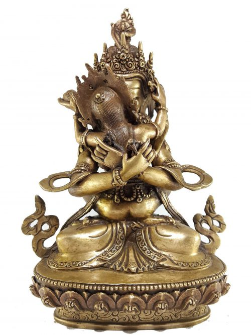 Statue of Vajradhara Shakti Bronze finishing