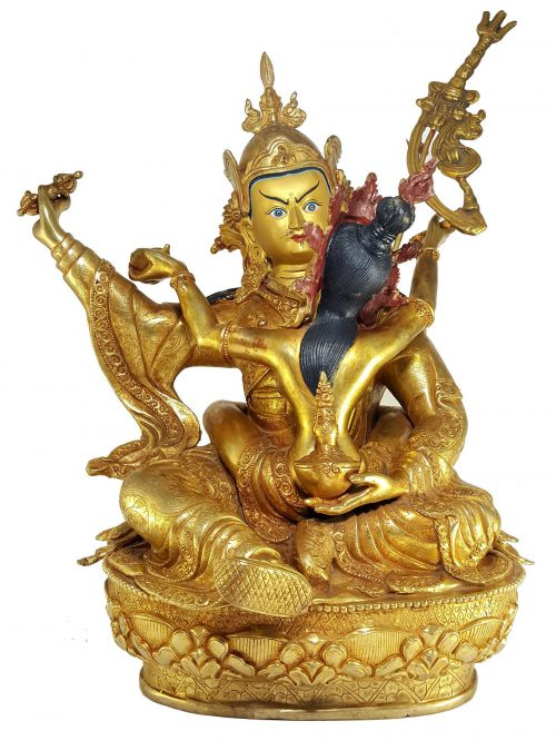 Statue of Padmasambhava Shakti with Painted Face
