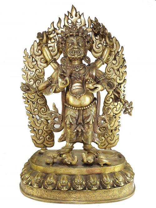 Statue of Qunique Mahakala Statue Bronze finishing