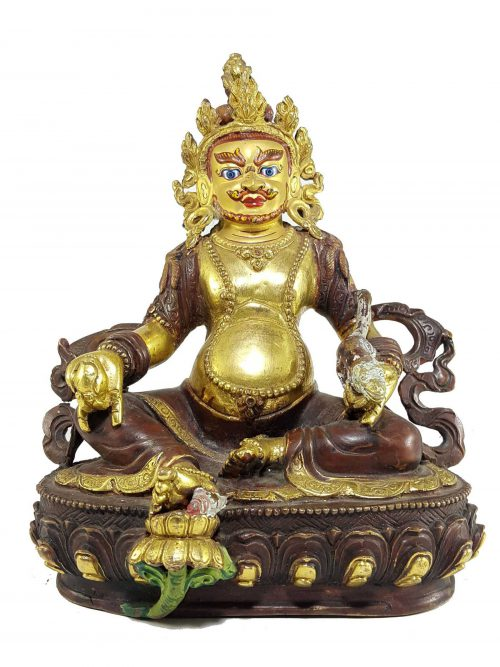 Statue of Yellow Jambhala with Painted Face