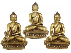 Statue Set of Shakyamuni Buddha Amitabha Buddha and Medicine Buddha