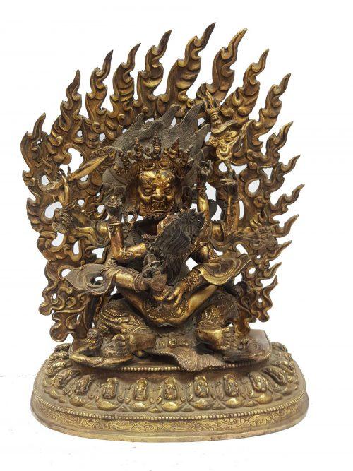 Statue of Sitting Mahakal Shakti