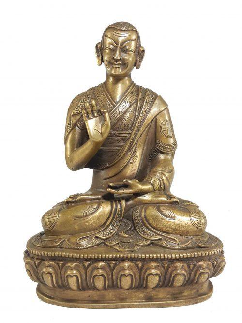 Statue of Gyaltsab Je Tsongkhapa Disciple Bronze finishing