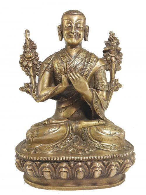 Statue of Tsongkhapa Bronze finishing