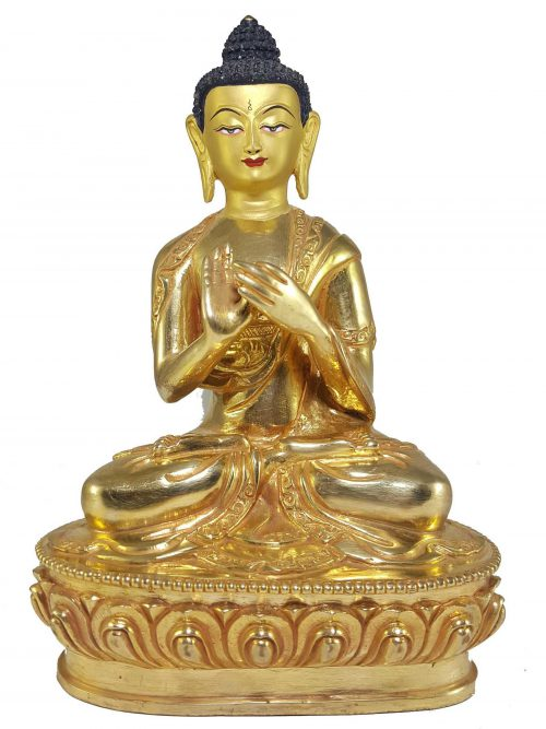 Statue of Vairocana Buddha with Painted Face