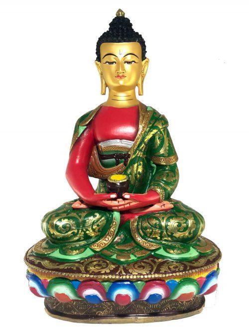 Statue of Amitabha Buddha Thangka Color finishing