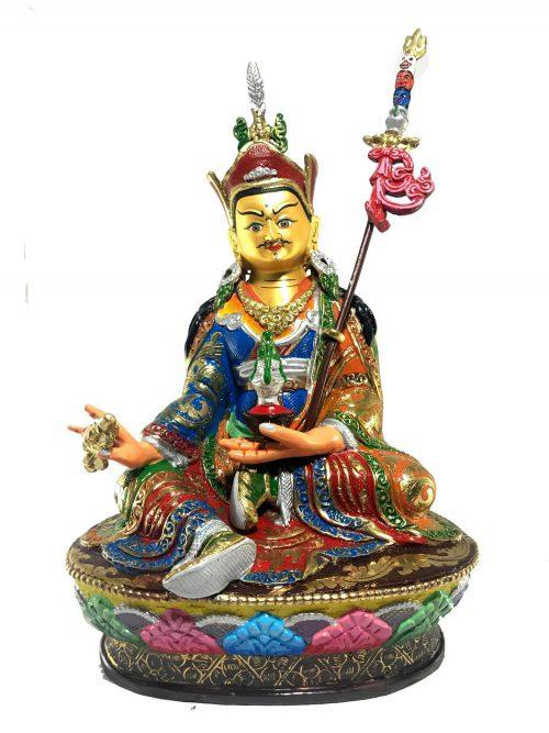Statue of Padmasambhava Thangka Color finishing