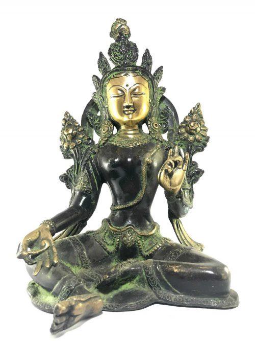 Statue of Green Tara Double Color