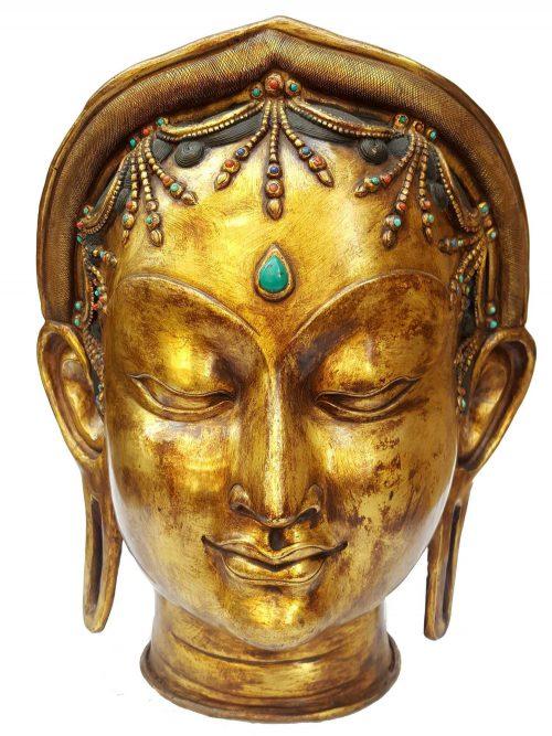 Tibetan Statue of Green Tara Head