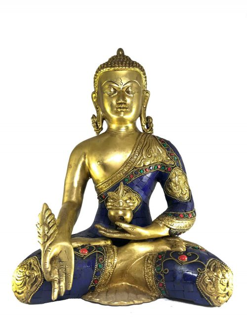 Statue of Medicine Buddha with Stone Setting