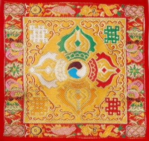 Yellow Silk Double Dorje Tilden Cloth
