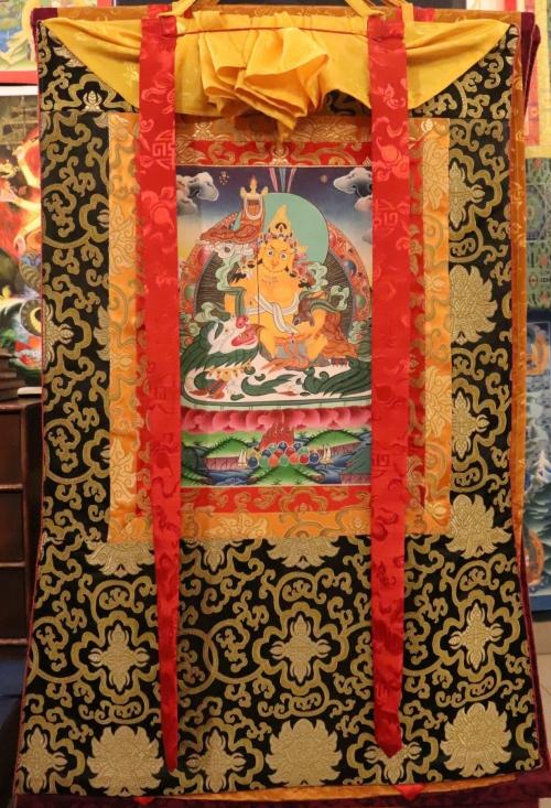 Silked Framed Jambhala Thangka