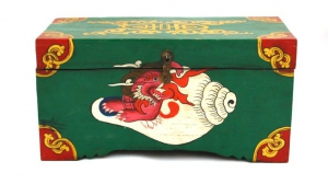 Tibetan Treasure Box with conch shell design