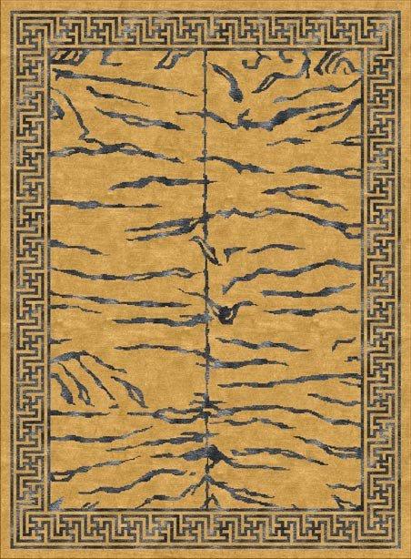Tibetan Carpet with Tiger stripe Design