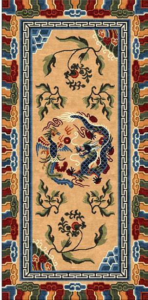 Tibetan Carpet with Dragon Design