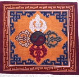 Tibetan Carpet with Dorje Design