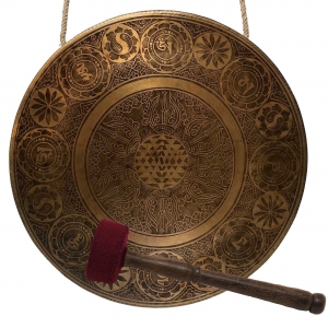 Gong with Auspicious Symbol