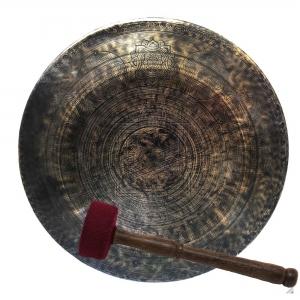 Mandala Design Gong with Antique finishing