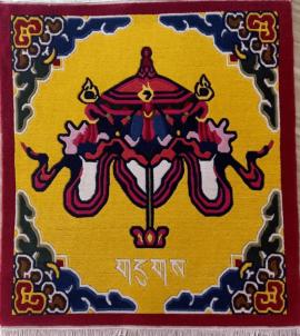 Parasol Design Tibetan Rug