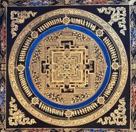 Golden Kalachakra Mandala Art