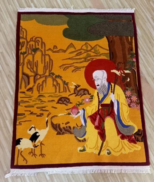 Tibetan Yogi Milarepa Design Carpet