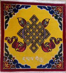 Tibetan Carpet with Auspicious Symbol - Endless knot