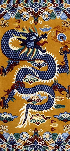 Tibetan Blue Dragon Rug