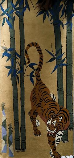 Tibetan Tiger and Bamboo Rug