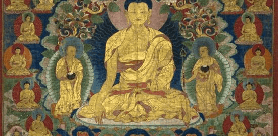 Sakyamuni Buddha with the 35 Buddhas of confession