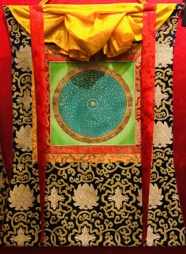 Silk Framed Small Mantra Mandala