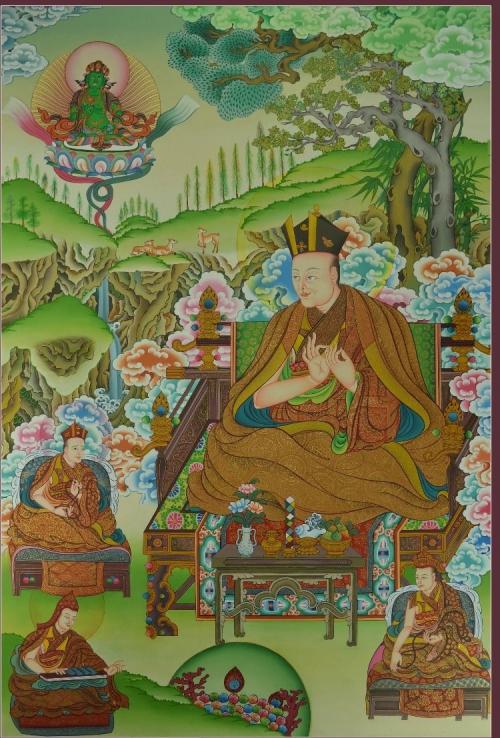 1st Karmapa Dusum Khyenpa Thangka Painting
