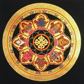 8 Auspicious Symbol Mandala