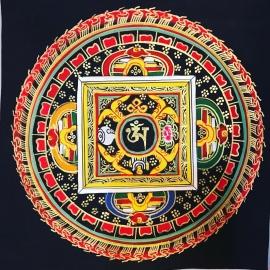 Om Mandala with black background