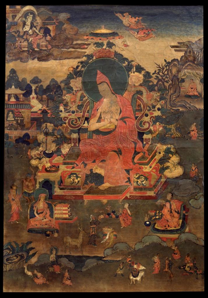 Depicting-Indian-Teacher-Asanga Thangka