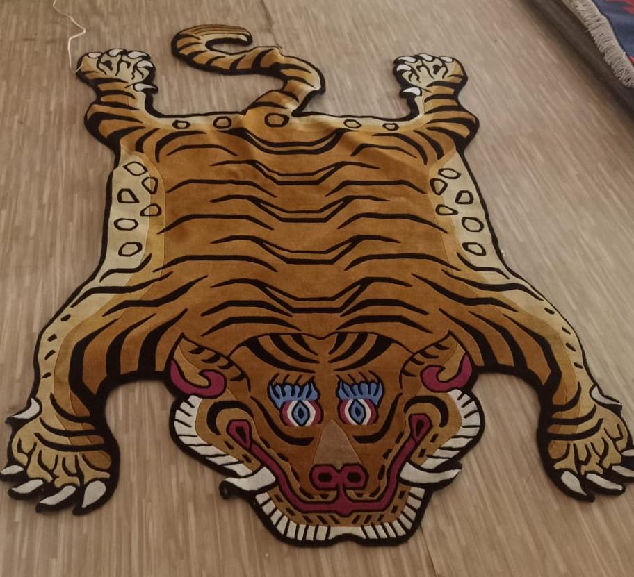 Traditional Tibetan Tiger Carpet