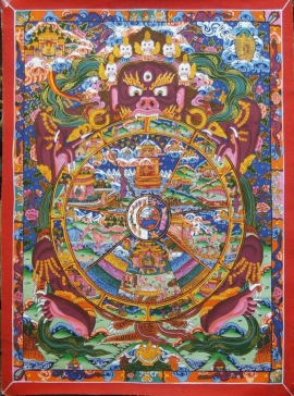 Wheel of Life Thangka Painting Art