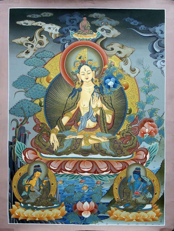 White Tara - Goddess of Compassion Thangka
