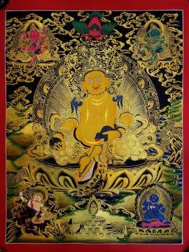 Five Jambhala Tibetan Thangka